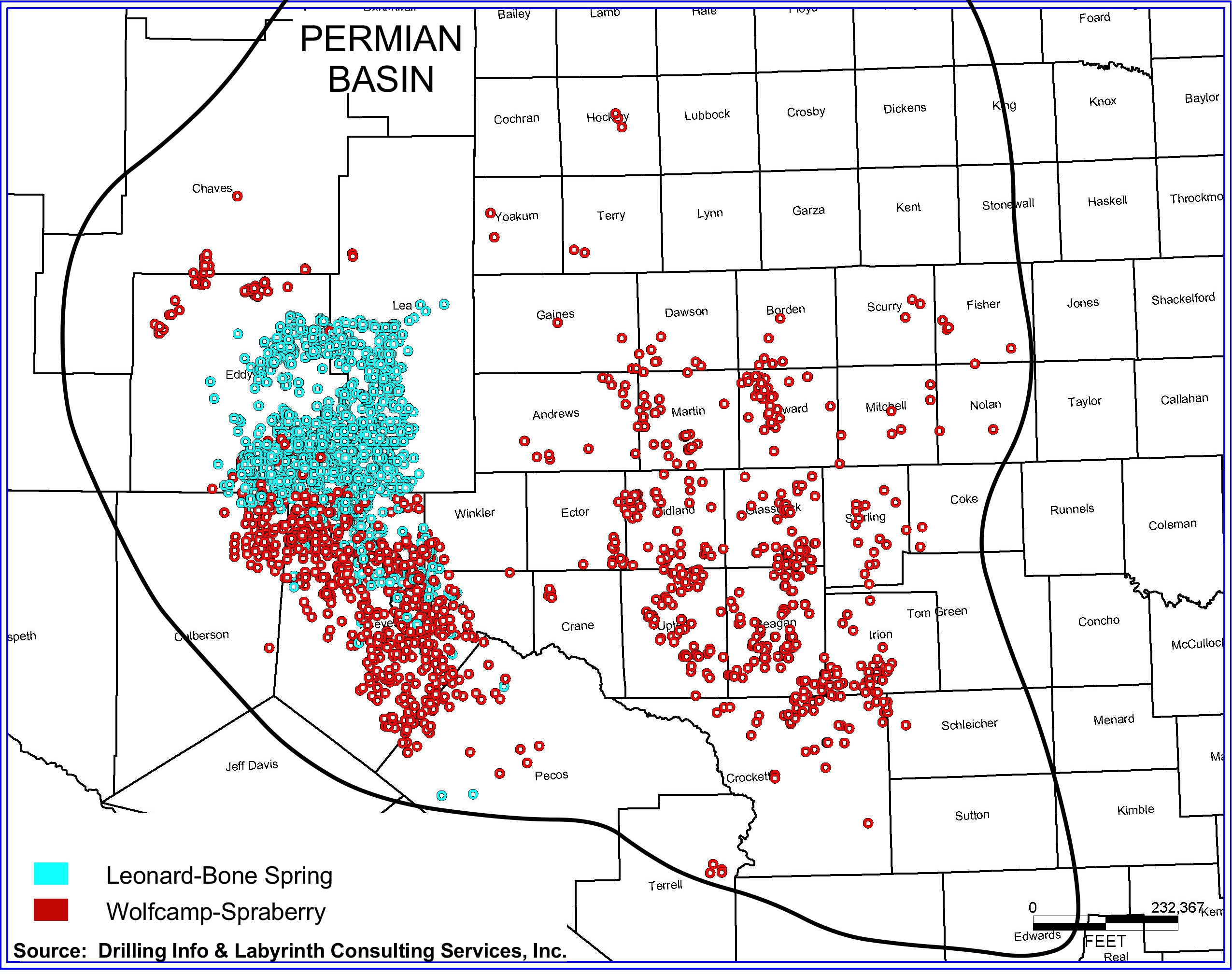 Less Than  Percent Of Permian Basin Commercial At  Oil - Shale gas map usa