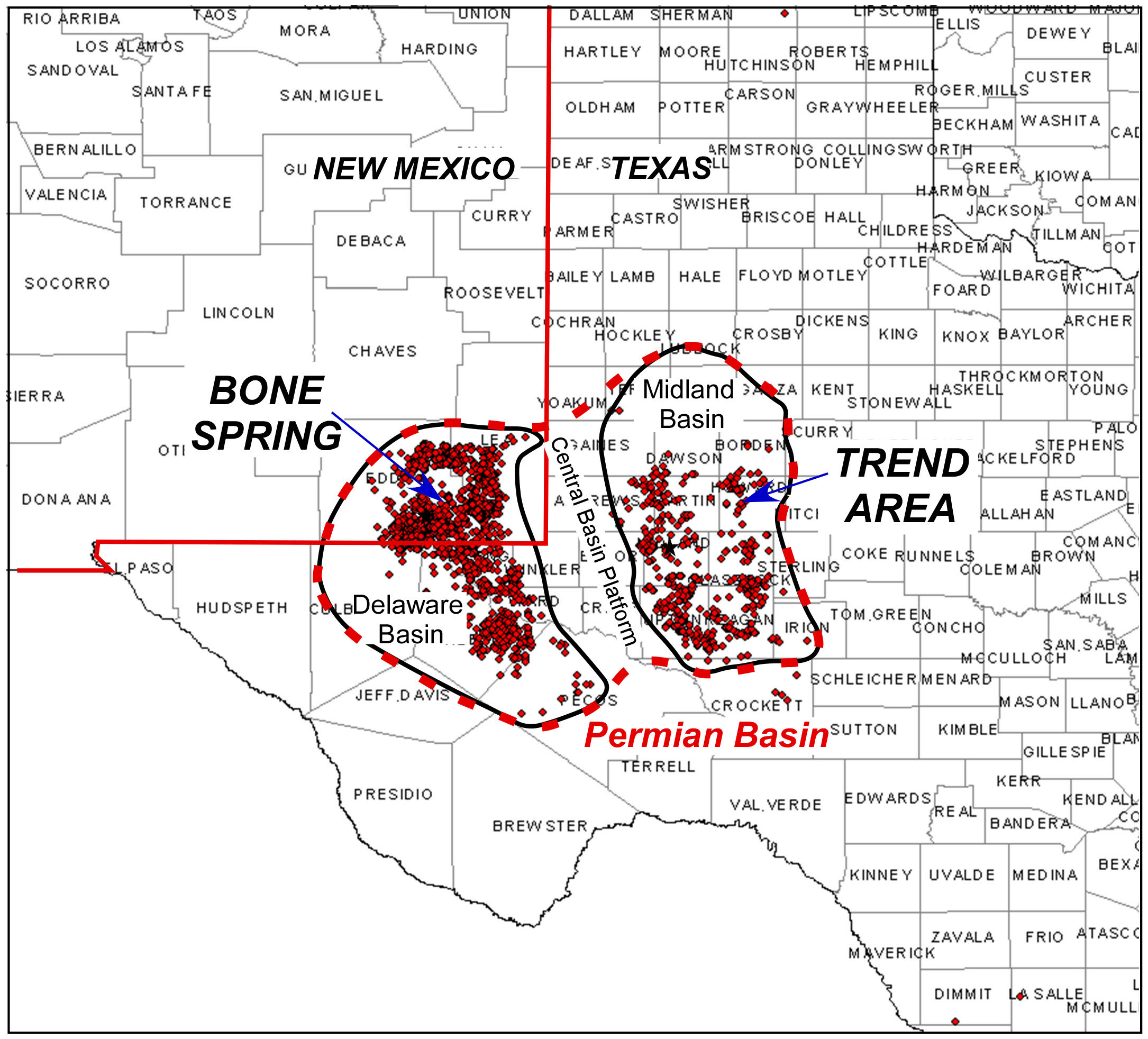 Permian Basin Map 16 August 2015
